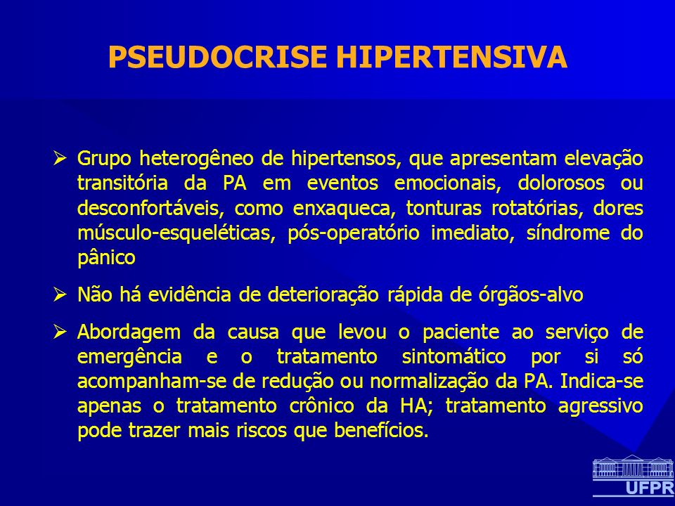 PSEUDOCRISE HIPERTENSIVA