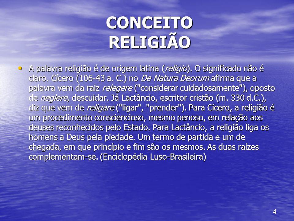 CONCEITO RELIGIÃO