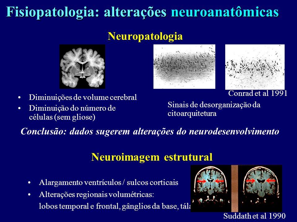 Fisiopatologia: alterações neuroanatômicas