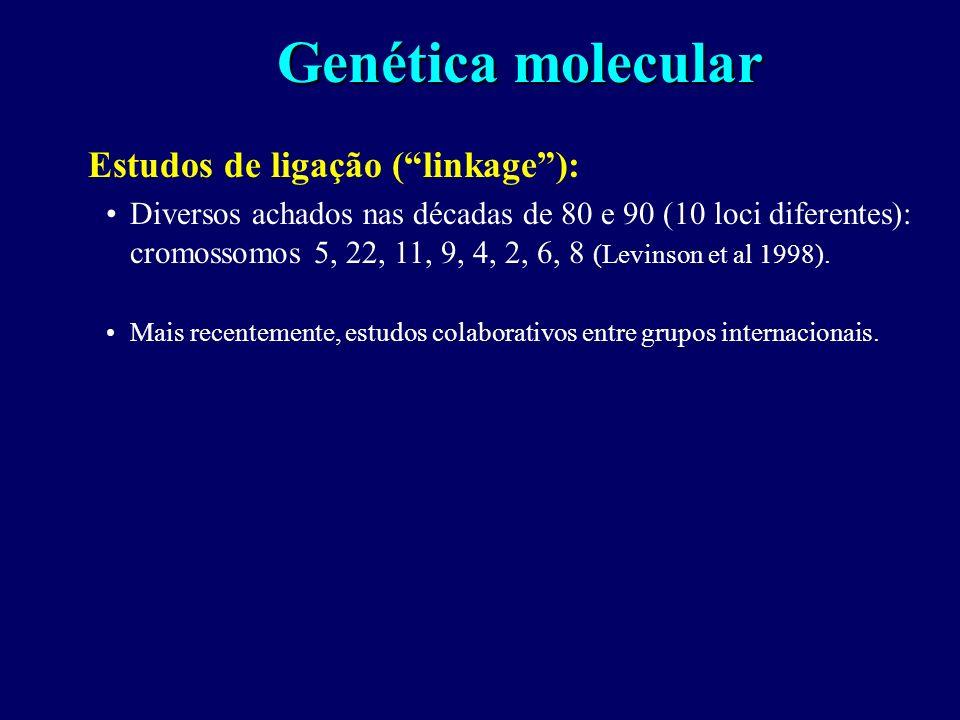 Genética molecular Estudos de ligação ( linkage ):