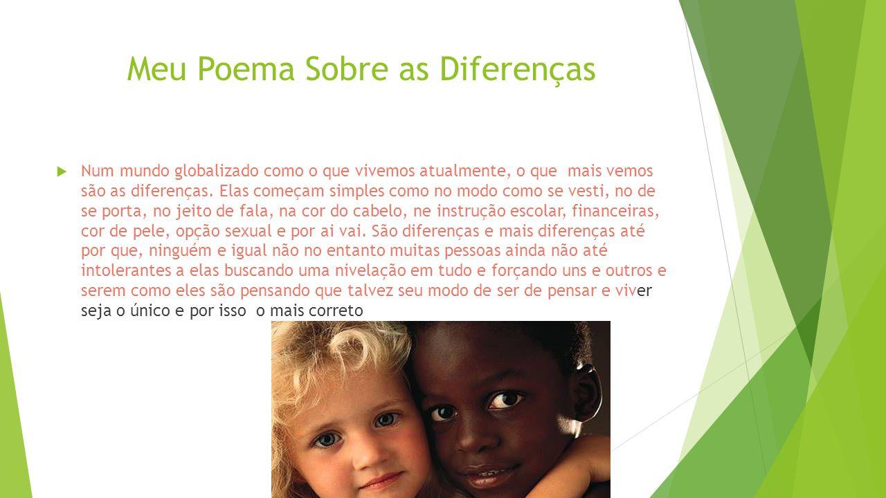 Meu Poema Sobre as Diferenças