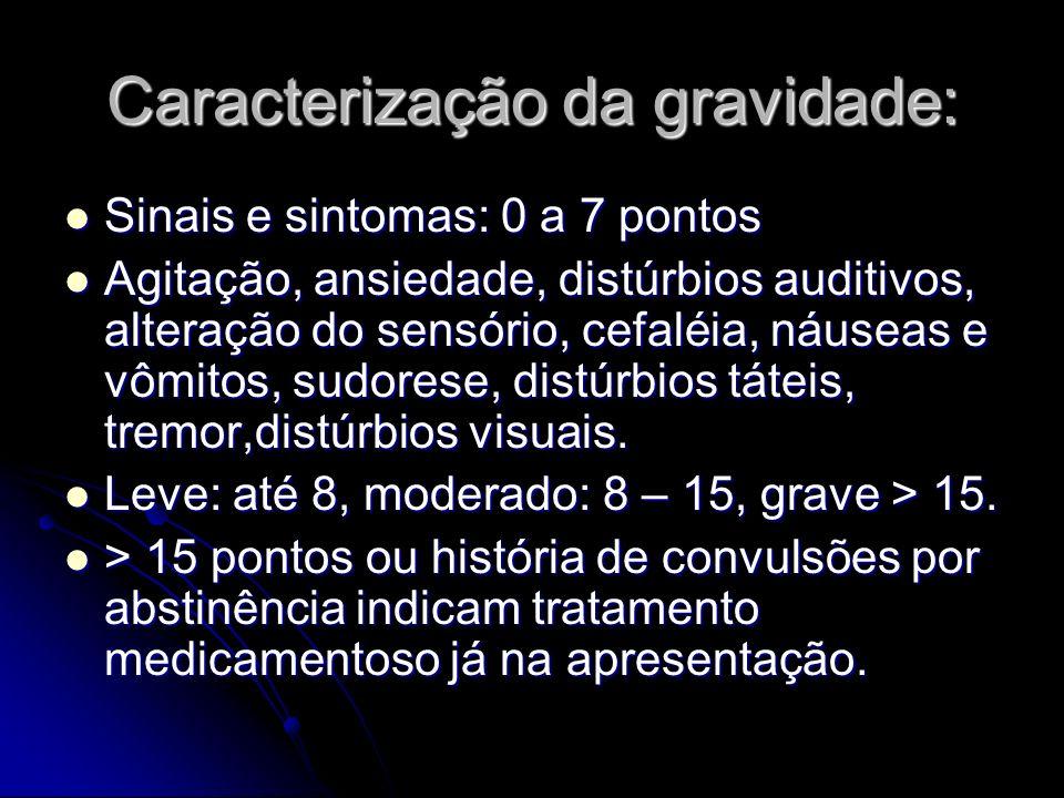 Caracterização da gravidade: