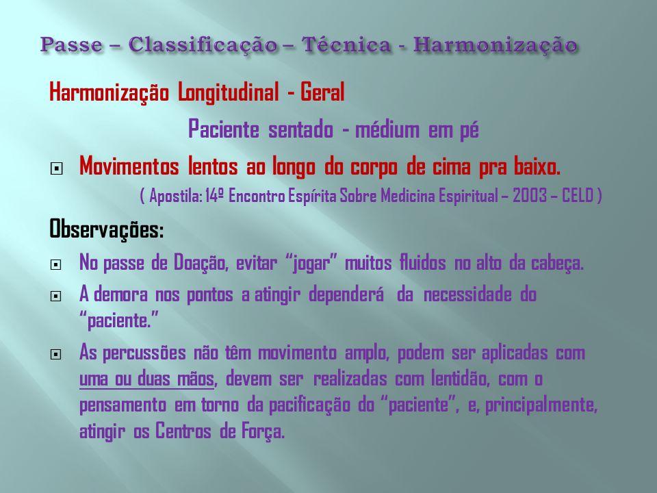 Passe – Classificação – Técnica - Harmonização