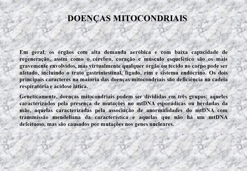 DOENÇAS MITOCONDRIAIS