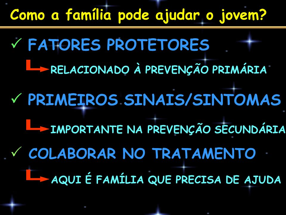  PRIMEIROS SINAIS/SINTOMAS