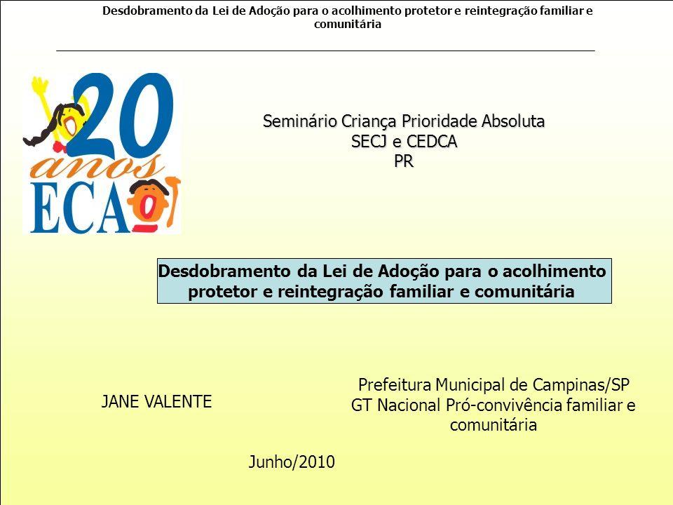 Seminário Criança Prioridade Absoluta SECJ e CEDCA PR