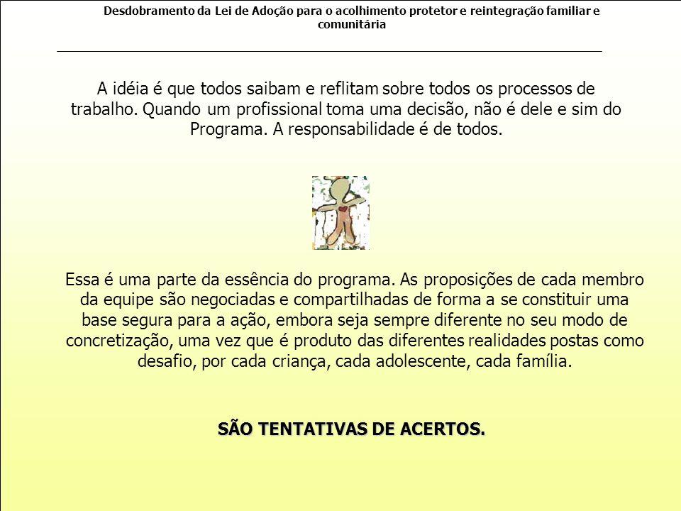 SÃO TENTATIVAS DE ACERTOS.