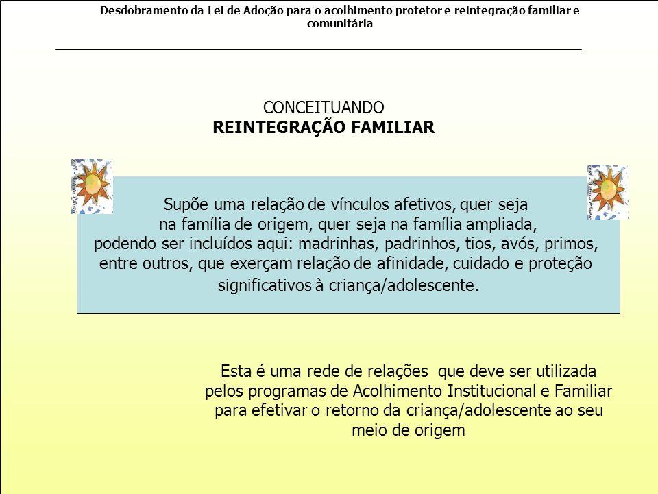 CONCEITUANDO REINTEGRAÇÃO FAMILIAR