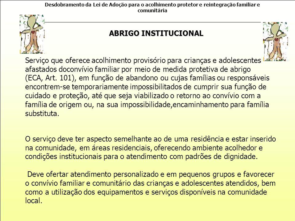 ABRIGO INSTITUCIONAL