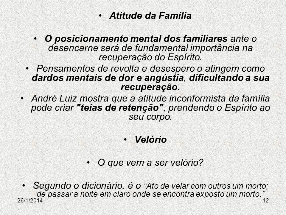 Atitude da Família Velório
