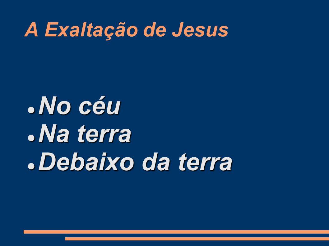 A Exaltação de Jesus No céu Na terra Debaixo da terra