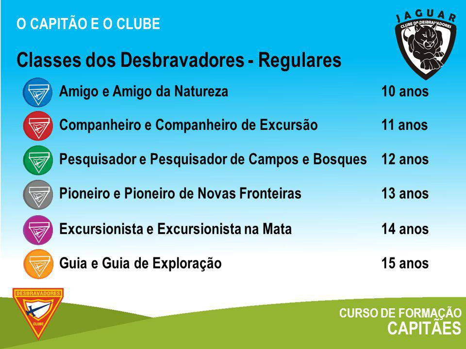 Classes dos Desbravadores - Regulares