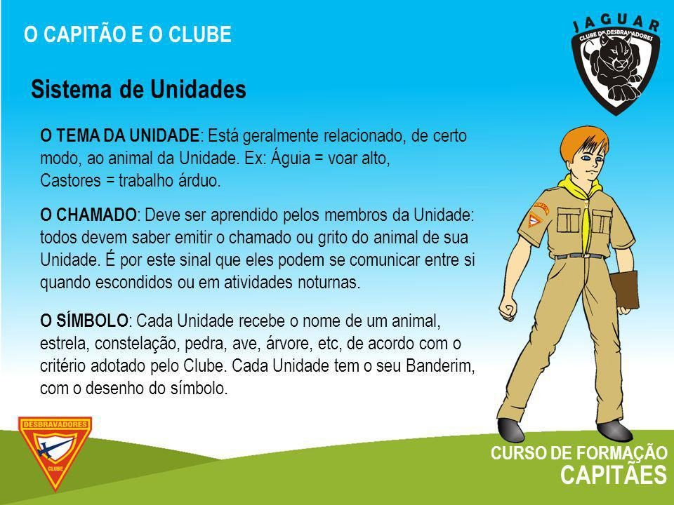 Sistema de Unidades CAPITÃES O CAPITÃO E O CLUBE