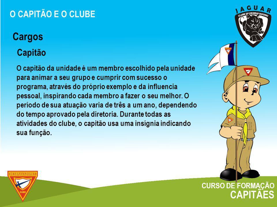 Cargos CAPITÃES Capitão O CAPITÃO E O CLUBE