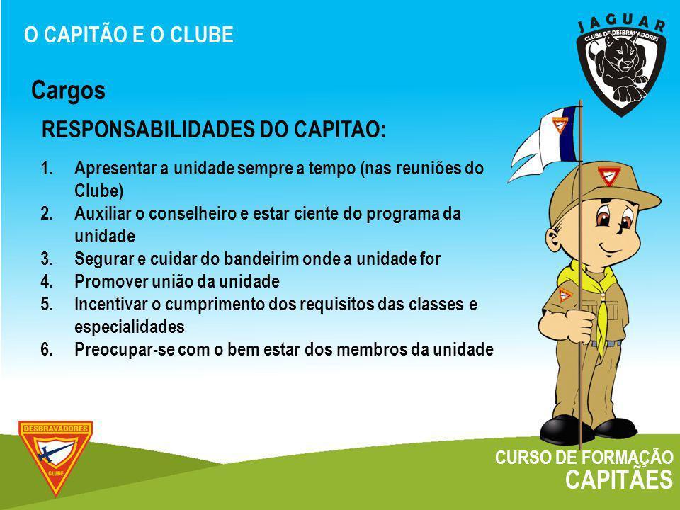 Cargos CAPITÃES RESPONSABILIDADES DO CAPITAO: O CAPITÃO E O CLUBE