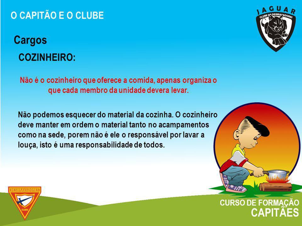 Cargos CAPITÃES COZINHEIRO: O CAPITÃO E O CLUBE