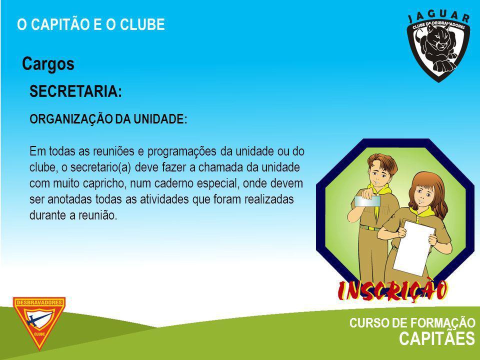Cargos CAPITÃES SECRETARIA: O CAPITÃO E O CLUBE