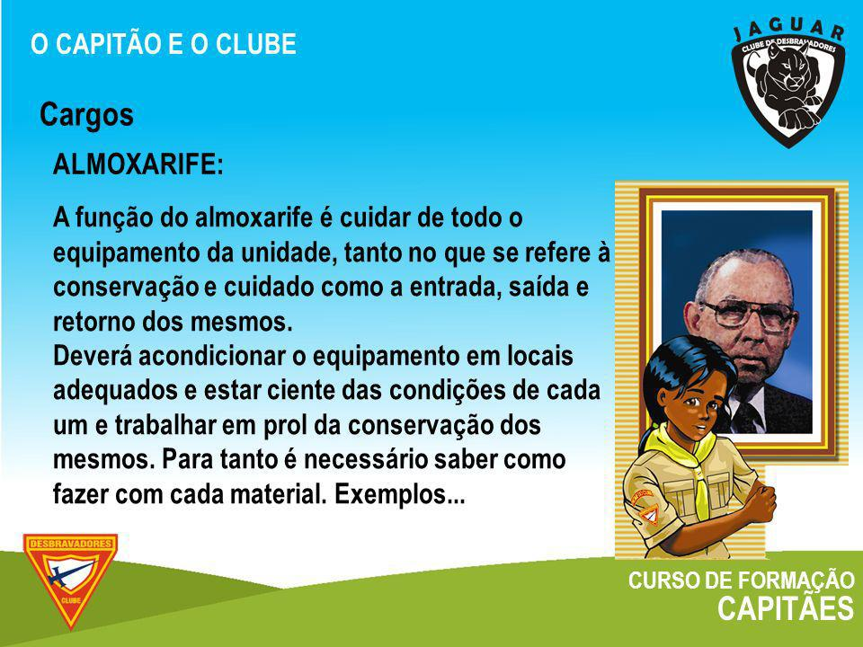 Cargos CAPITÃES ALMOXARIFE: O CAPITÃO E O CLUBE
