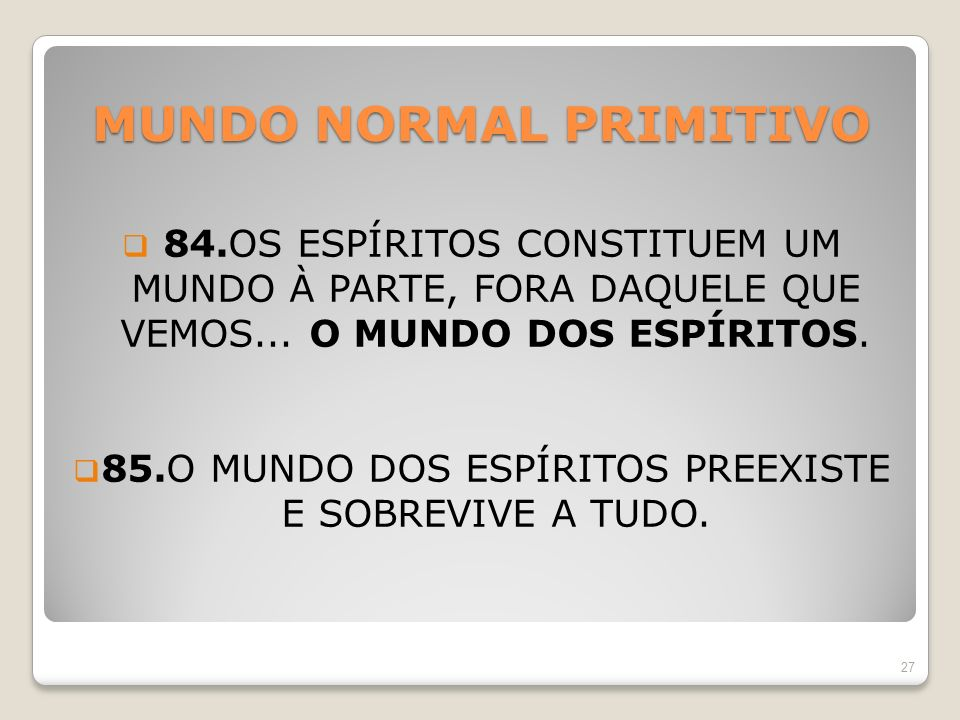 MUNDO NORMAL PRIMITIVO