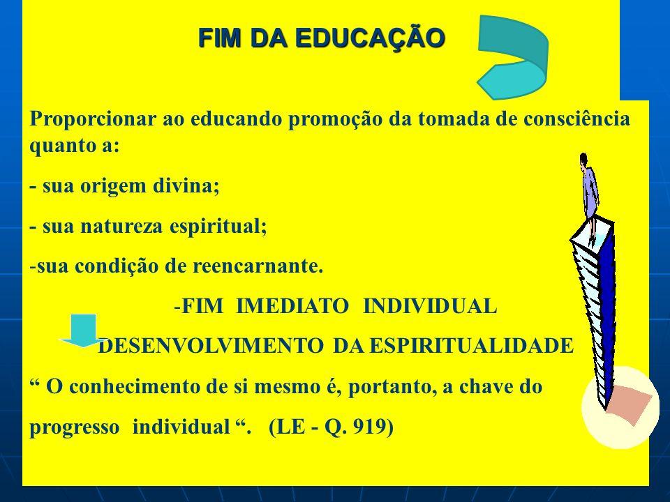 FIM IMEDIATO INDIVIDUAL DESENVOLVIMENTO DA ESPIRITUALIDADE