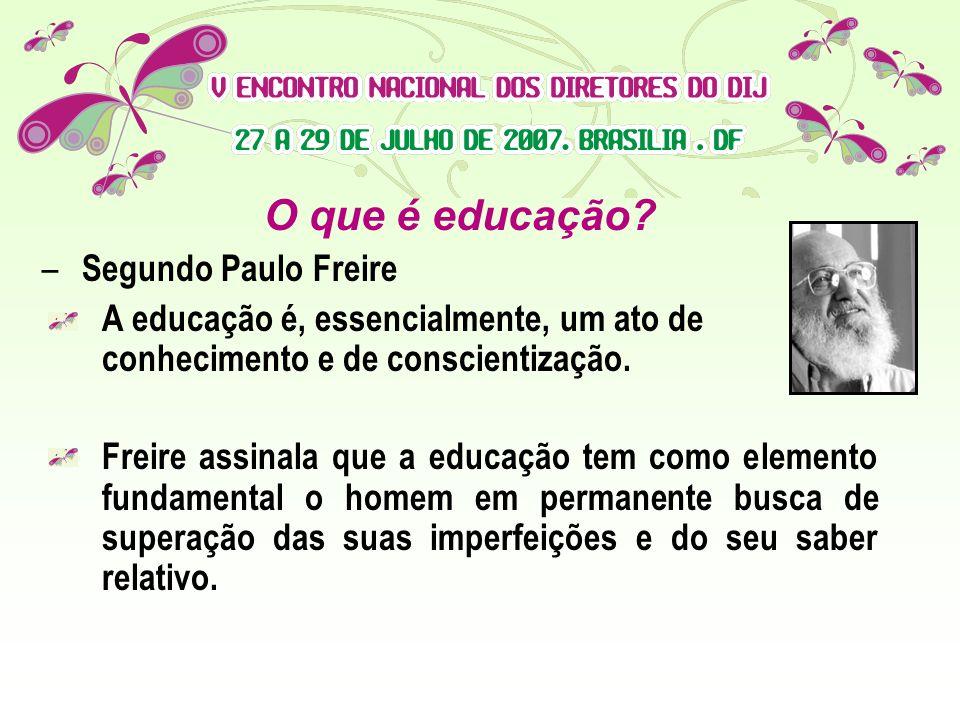 O que é educação Segundo Paulo Freire