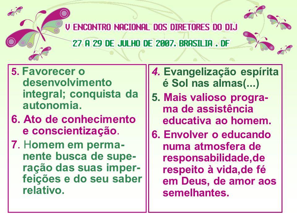 6. Ato de conhecimento e conscientização.