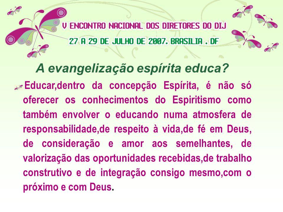 A evangelização espírita educa