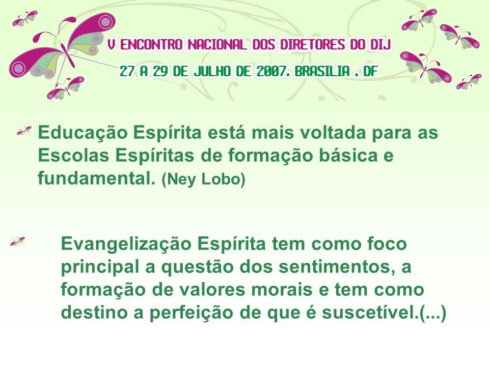 Educação Espírita está mais voltada para as Escolas Espíritas de formação básica e fundamental. (Ney Lobo)