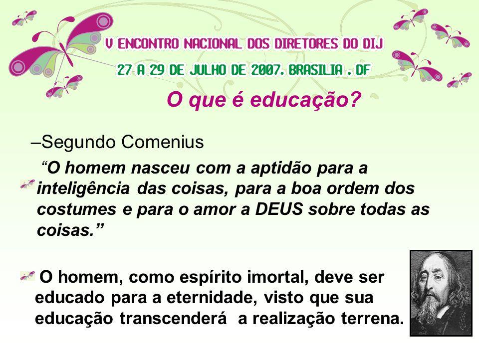 O que é educação Segundo Comenius