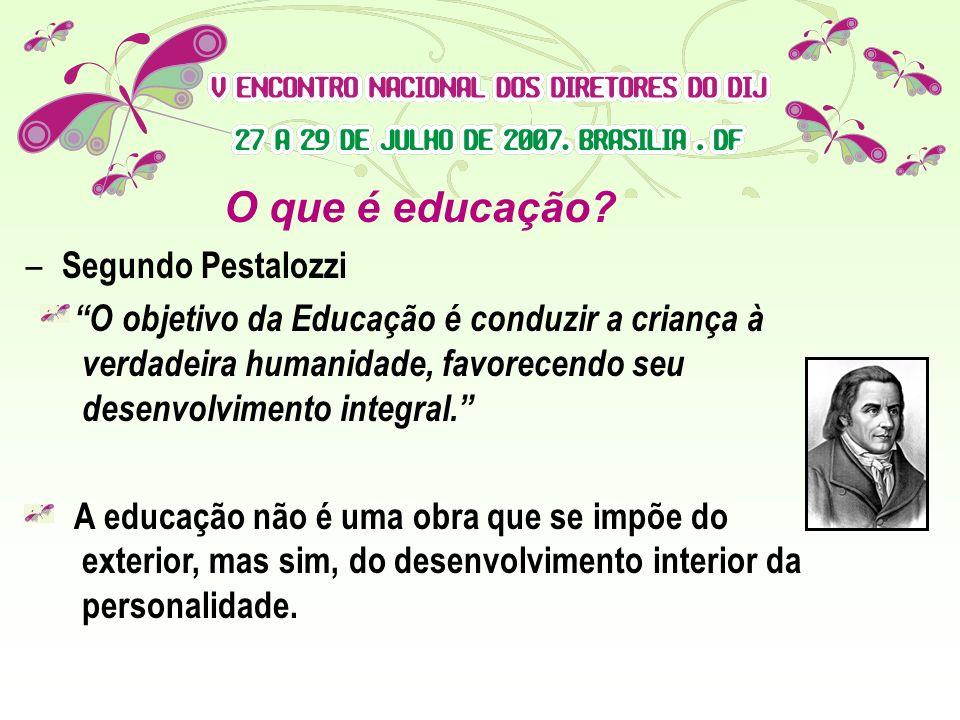 O que é educação Segundo Pestalozzi