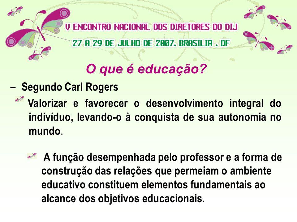 O que é educação Segundo Carl Rogers