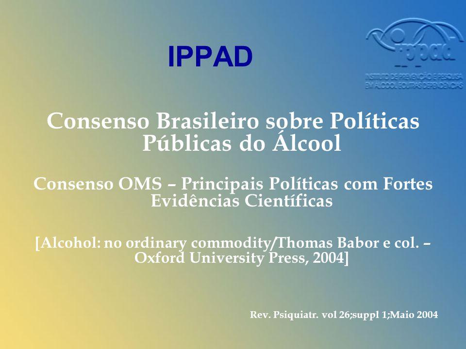 IPPAD Consenso Brasileiro sobre Políticas Públicas do Álcool