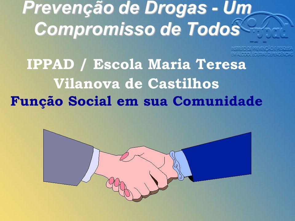 Prevenção de Drogas - Um Compromisso de Todos IPPAD / Escola Maria Teresa Vilanova de Castilhos Função Social em sua Comunidade