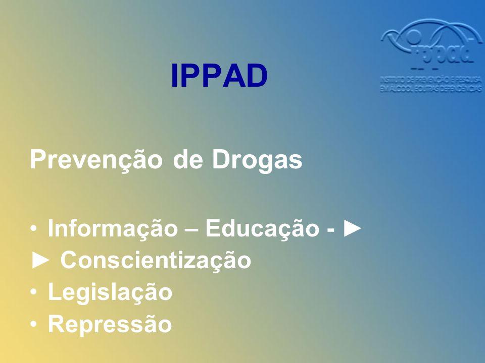 IPPAD Prevenção de Drogas Informação – Educação - ► ► Conscientização