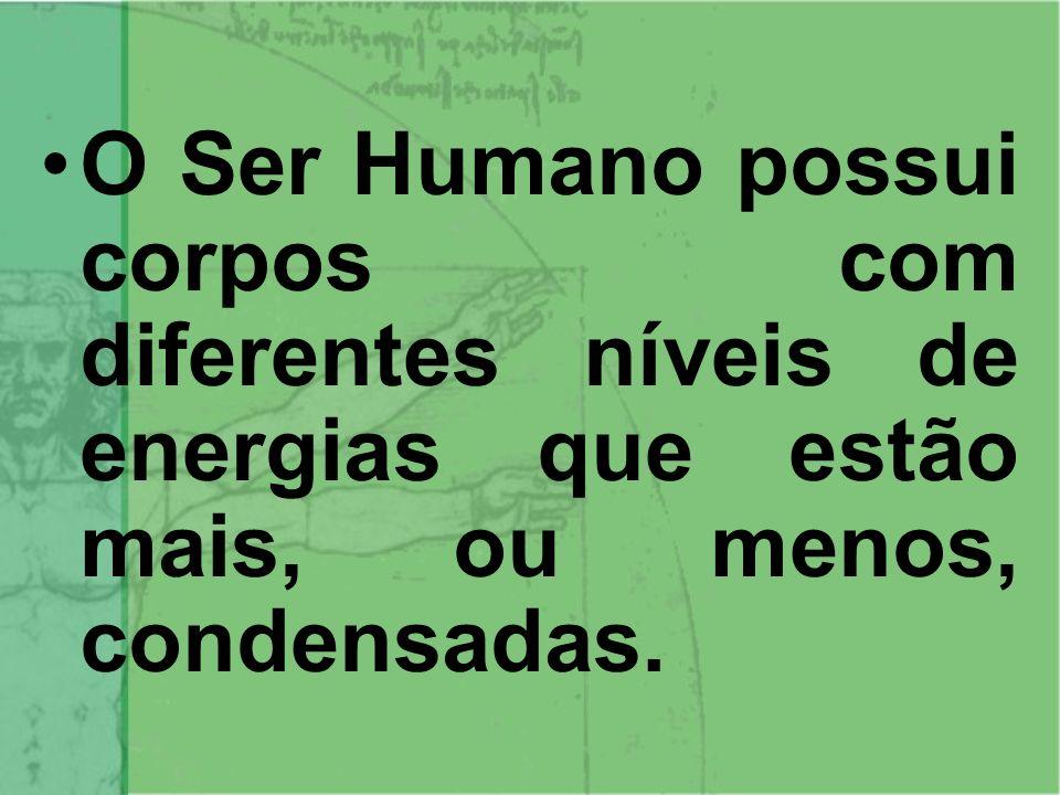 O Ser Humano possui corpos com diferentes níveis de energias que estão mais, ou menos, condensadas.