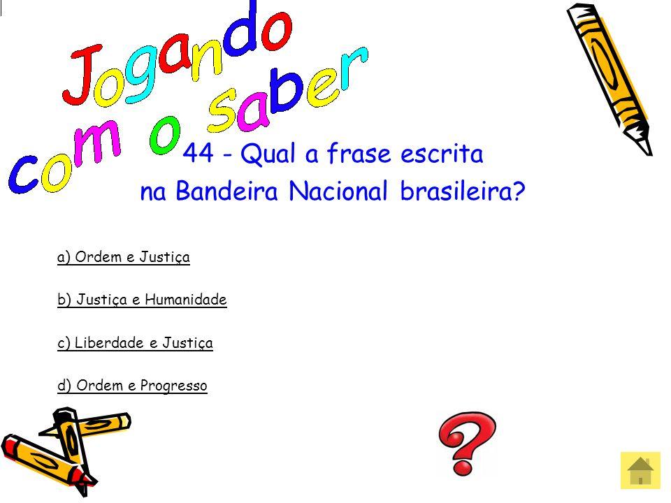 na Bandeira Nacional brasileira