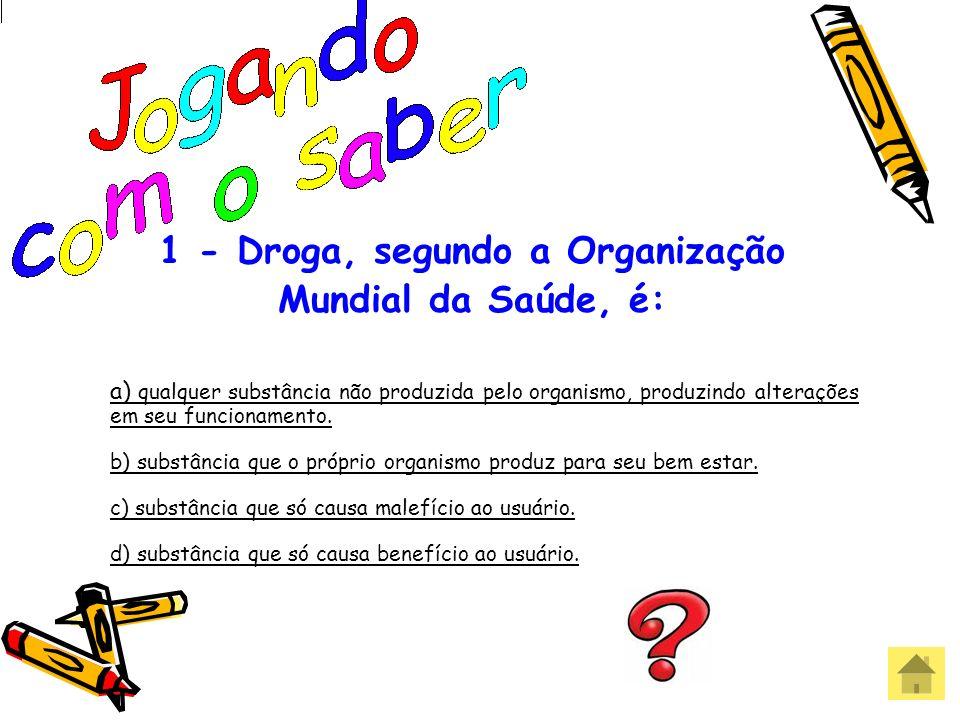 1 - Droga, segundo a Organização