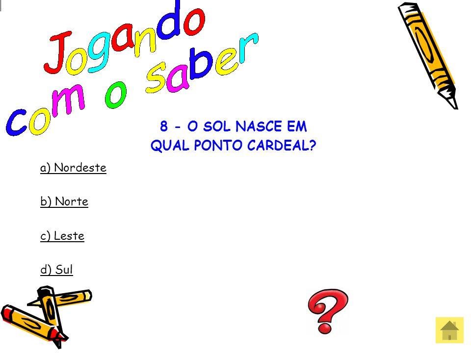 8 - O SOL NASCE EM QUAL PONTO CARDEAL