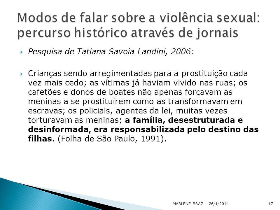 Modos de falar sobre a violência sexual: percurso histórico através de jornais