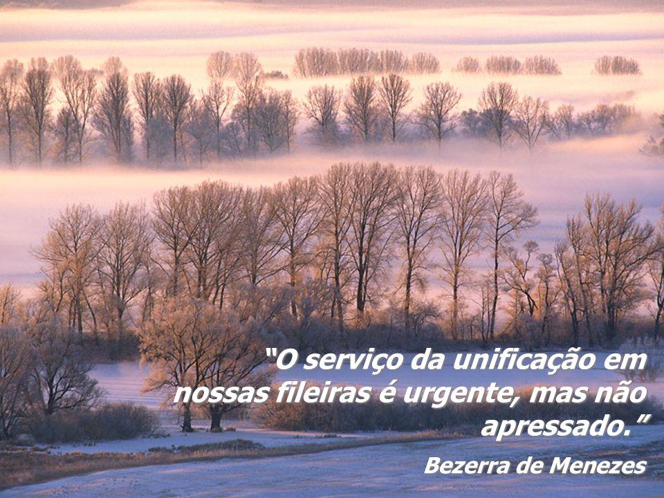 O serviço da unificação em nossas fileiras é urgente, mas não apressado.