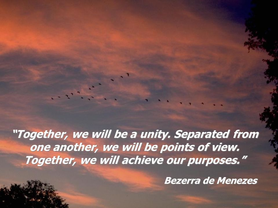 Together, we will be a unity