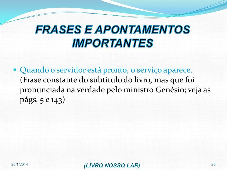 FRASES E APONTAMENTOS IMPORTANTES