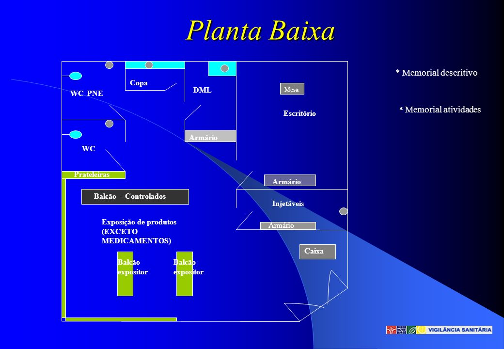 Planta Baixa * Memorial descritivo Copa DML WC PNE