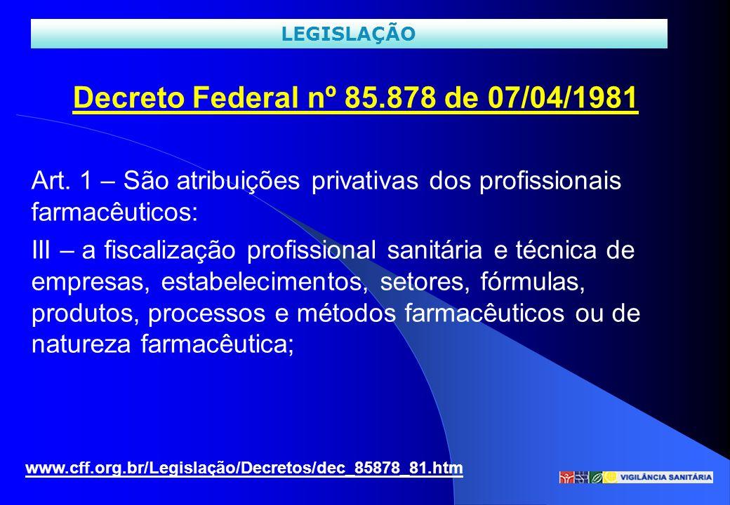 Decreto Federal nº 85.878 de 07/04/1981