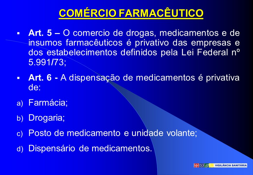 COMÉRCIO FARMACÊUTICO