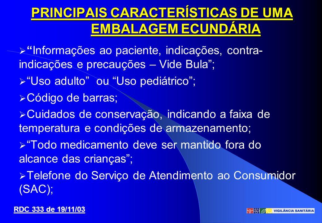 PRINCIPAIS CARACTERÍSTICAS DE UMA EMBALAGEM ECUNDÁRIA