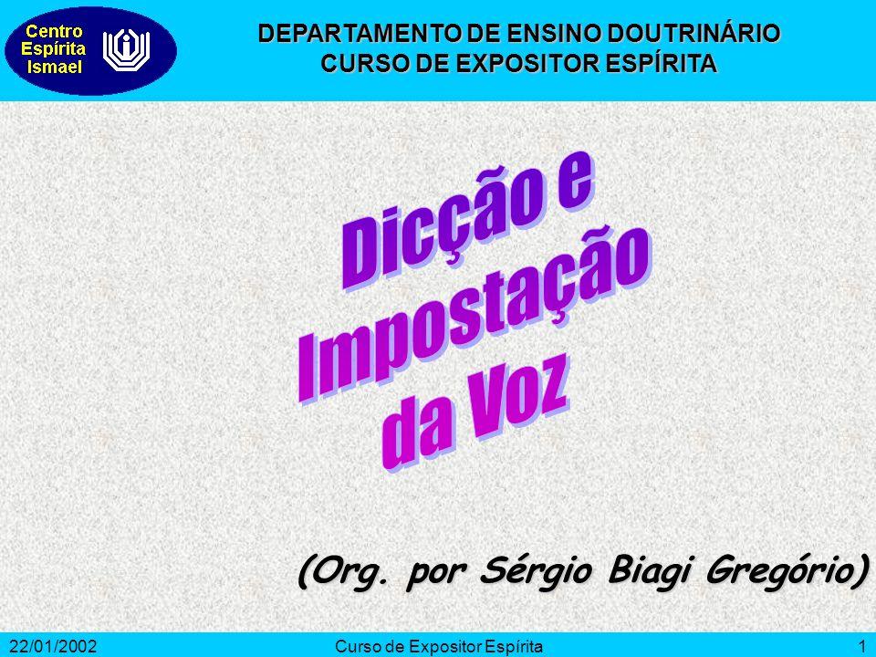 Dicção e Impostação da Voz (Org. por Sérgio Biagi Gregório)