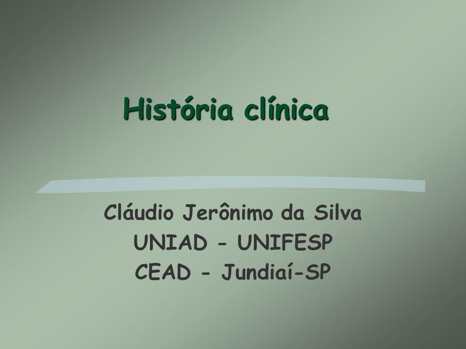 Cláudio Jerônimo da Silva UNIAD - UNIFESP CEAD - Jundiaí-SP