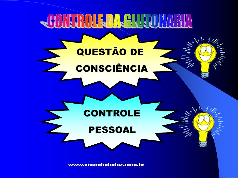 CONTROLE DA GLUTONARIA
