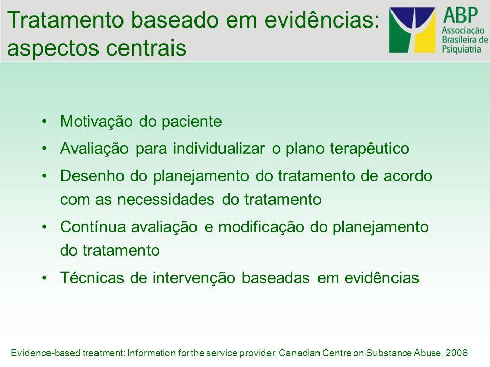 Tratamento baseado em evidências: aspectos centrais